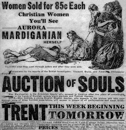 """""""Auction Of Souls"""" film newspaper advertisement"""