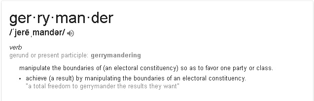 definition of gerrymander