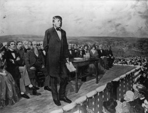 Trump delivering Gettysburg Address