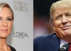 collage of Donald Trump and Mika Brzezinski photo images
