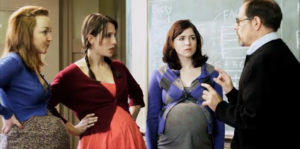 another cast photo of actresses in Abortion, The Musical