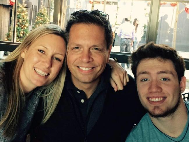 Justine Damond, her husband and stepson