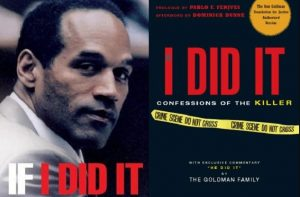 "book jacket cover of ""If I Did It"", O.J.'s non-confession narrative"