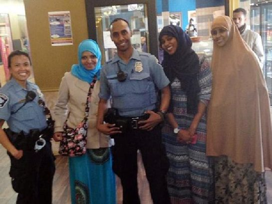 Officer Noor with Somali Muslim community