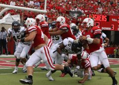 Nebraska Husker QB Taylor Martinez runs in a touchdown