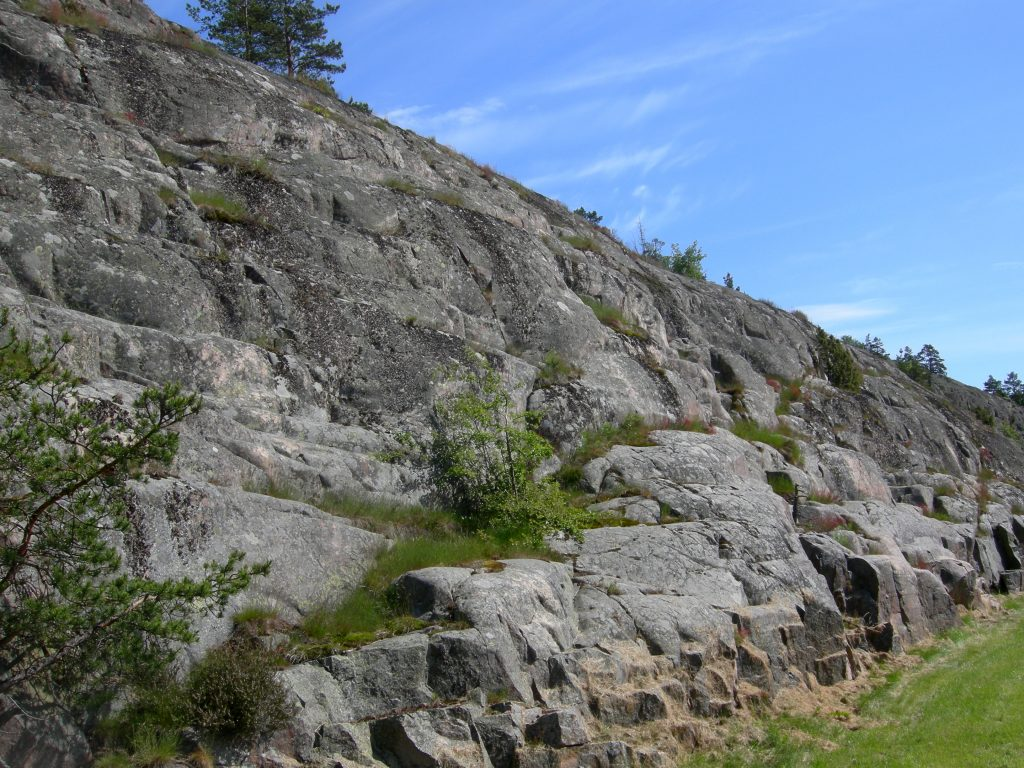 a stretch of granite bedrock on the Aland Islands