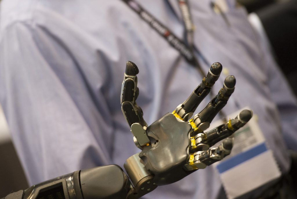 photo of actual robotic hand