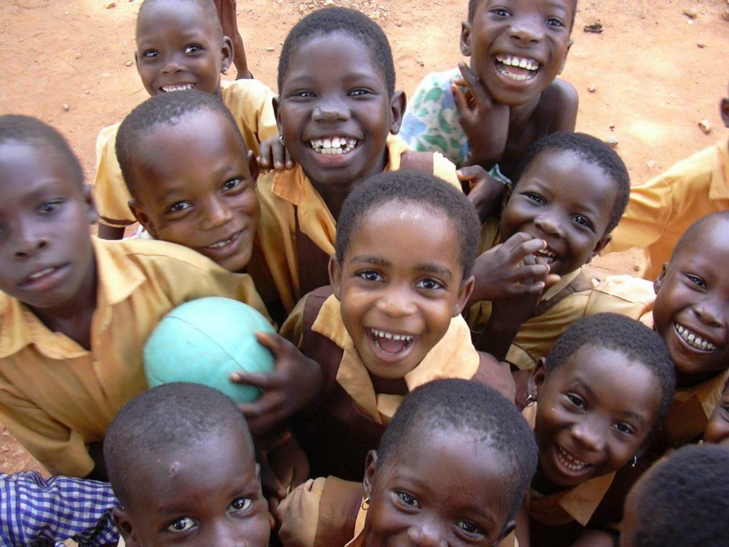 school children in Ghana