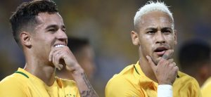 Coutinho and Neymar on the Brazilian national team.