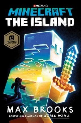 "cover graphic of Max Brooks' book ""Minecraft - The Island"""