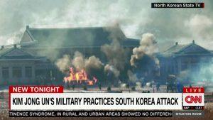 North Korean military exercise.