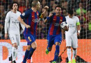Neymar scores against PSG.