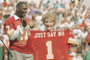"Nancy Reagan led ""Just Say No!"" campaign in teh 1980s."