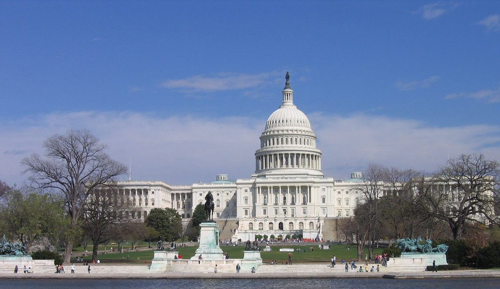 photo image of the United States Capitol - home of the legislative branch of America's government - Congress