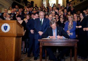 Gov. Baker signs opioid prescription bill.