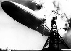the eponymous photo taken at the moment of the historic Hindenburg disaster - the explosion of the Hindenburg dirigible, so well known as the visual representation of the British hard rock supergroup Led Zeppelin