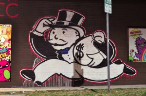 "the ""Mr. Money Bags"" Monopoly game character"