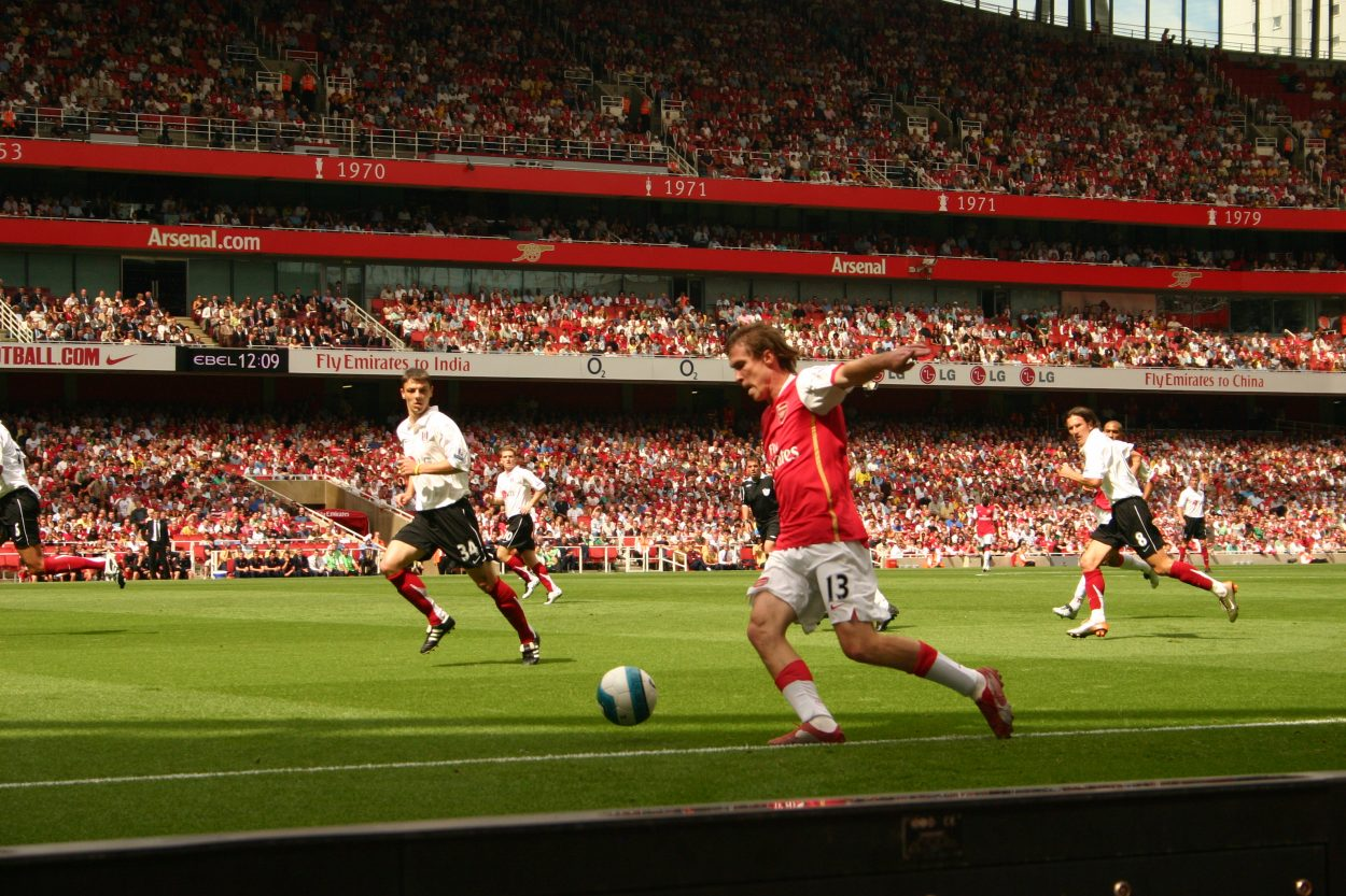 Fulham FC playing against Belarus and Alexander Hleb
