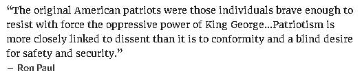 Ron Paul quote on authentic patriotism