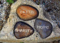 Faith, Hope, Charity stones