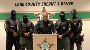 Sheriff and deputies in video aimed at drug dealers.
