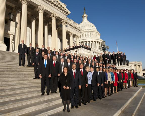 group portrait of the Freshman class of House Members of the 112th Congress
