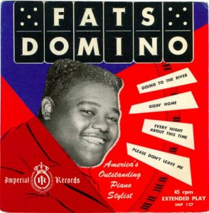 a record sleeve from an early Fats Domino 45 RPM EP (Extra Play)