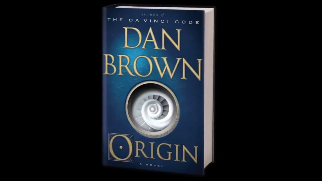 "cover of the newest fiction from best selling author Dan Brown - ""Origin"""