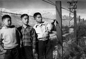 Japanese boys in internment camp.