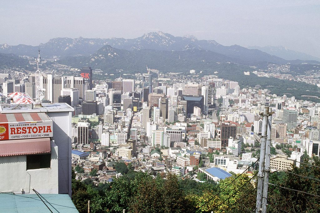 photo of Seoul, South Korea from elevated view