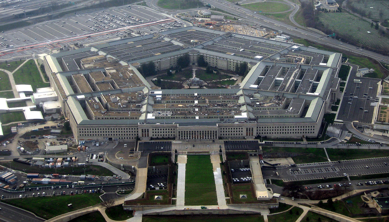 aerial DOD photo of the Pentagon