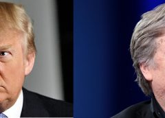 photo montage of Donald Trump and Steve Bannon