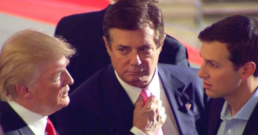 video still image of Donald Trump, Paul Manafort and Jared Kushner