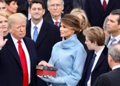 Trump Swearing In Ceremony during Inauguration