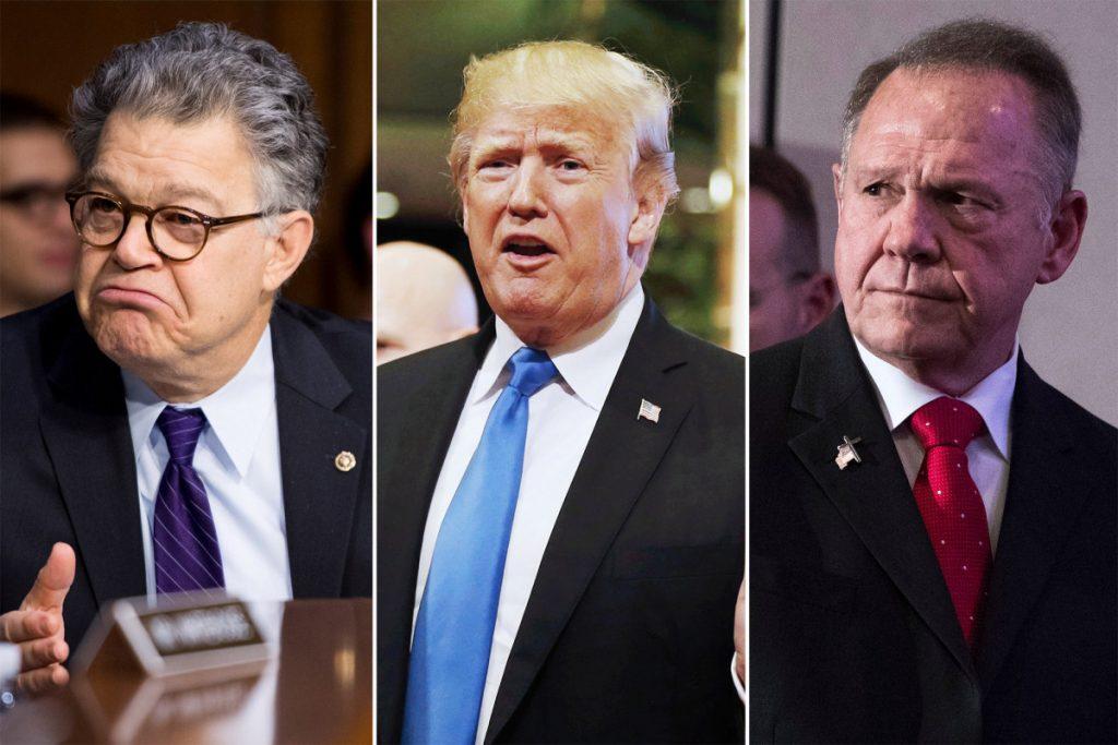 Franken, Trump and Moore.