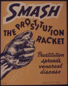 "vintage anti-prostitution poster, ""Smash The Prostitution Racket"""