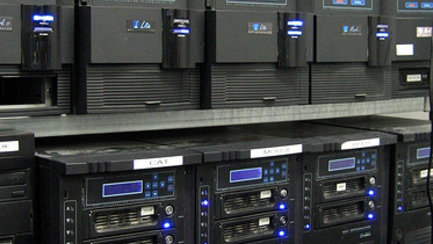 photo image of banks of servers