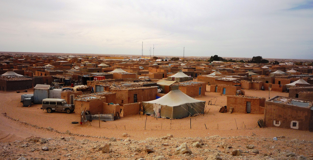 photo of Sahrawi refugee camp in Algerian desert