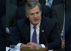 Christopher Wray in testimony before a Senate committee