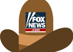 illustration of a ten gallon cowboy hat with Fox News logo