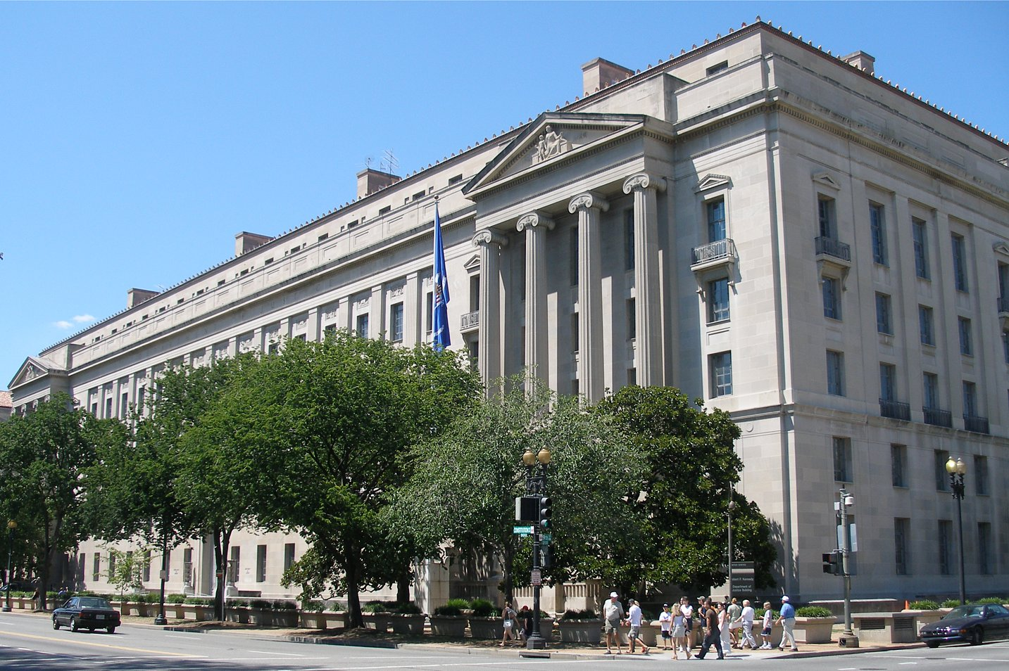 photo of outside of US Dept of Justice building