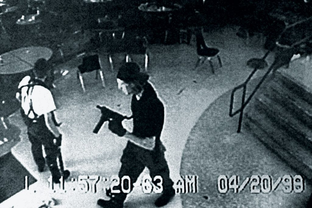Security Camera still of Columbine killers Harris and Klebold