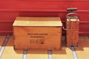 photo of explosives and detonation device