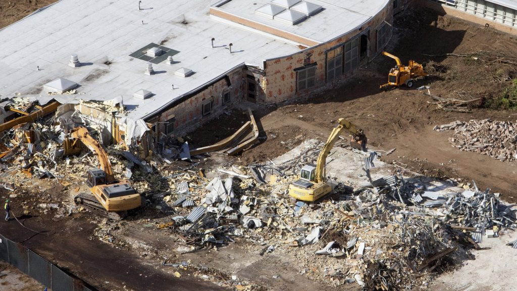 Sandy Hook was demolished after the 2012 shooting.