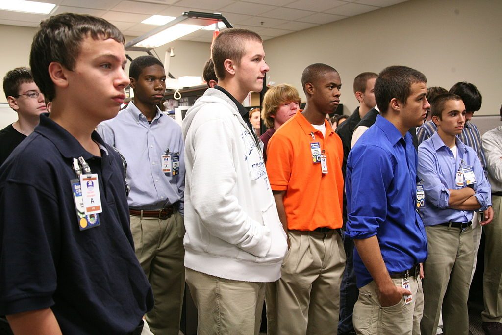 photo of a group of male high school students