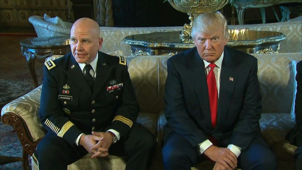 Gen. McMaster and President Trump