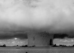photo of an atomic mushroom cloud