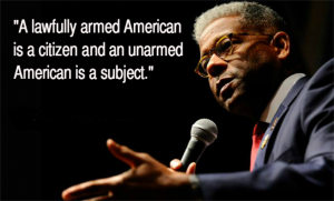 Retired U.S. Army Lieutenant Colonel Allen West, and former member of the U.S. House of Representatives, warns of an unarmed citizenry.