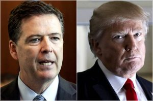 James Comey and Donald Trump photo montage