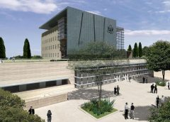 architectural model of the proposed U.S. Embassy to be constructed in Jerusalem
